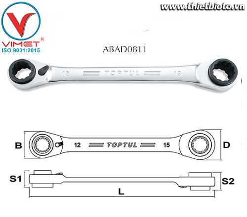 Cờ lê 2 đầu vòng Toptul ABAD0811