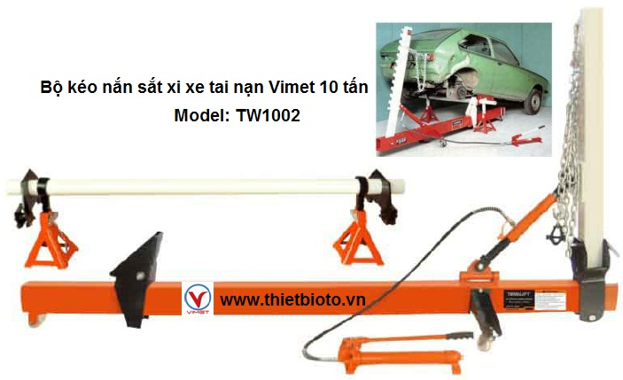 Bộ kéo nắn sắt xi xe tai nạn Vimet 10 tấn TW1002