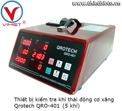 Thiết bị kiểm tra khí thải động cơ xăng Qrotech QRO-401 5 khí