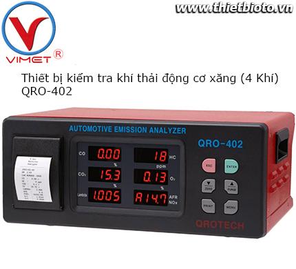 Thiết bị kiểm tra khí thải động cơ xăng Qrotech QRO-402 4 khí