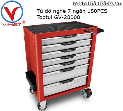 Tủ đồ nghề 7 ngăn 280pcs Toptul GV-28008