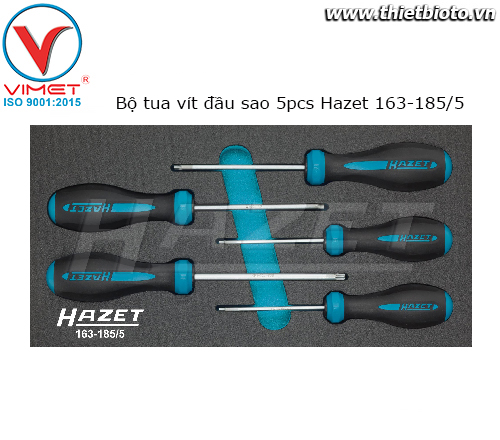Bộ tua vít đầu sao 5pcs Hazet 163-185/5